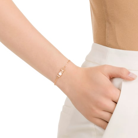 Swarovski Remix Collection Emotion Strand, White, Rose-gold tone plated - Swarovski, 5353846