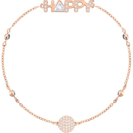 Swarovski Remix Collection Happy Strand, White, Rose-gold tone plated - Swarovski, 5353847