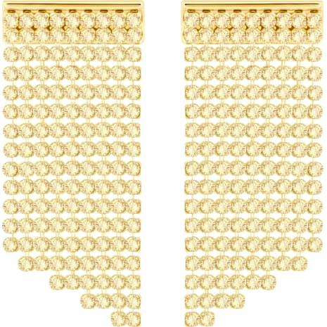 Fit Short Pierced Earrings, Golden, Gold-tone plated - Swarovski, 5360978