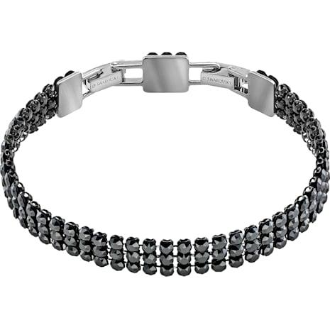 Fit Bracelet, Black, Ruthenium plated - Swarovski, 5363517