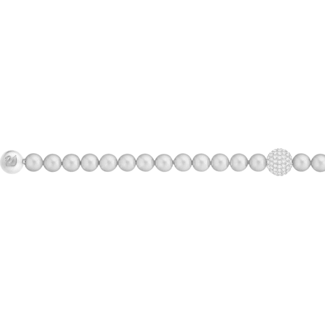 Swarovski Remix Collection Crystal Pearl Strand, Gray, Rhodium plated - Swarovski, 5364103