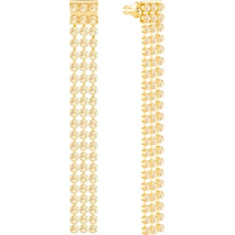 Fit Long Pierced Earrings Golden Gold Tone Plated