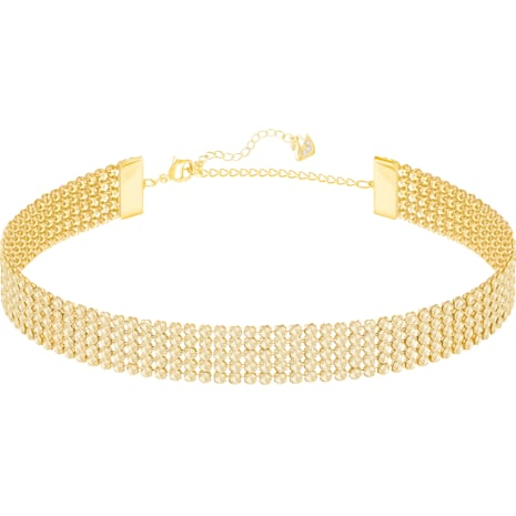 Fit Necklace, Golden, Gold-tone plated - Swarovski, 5364809