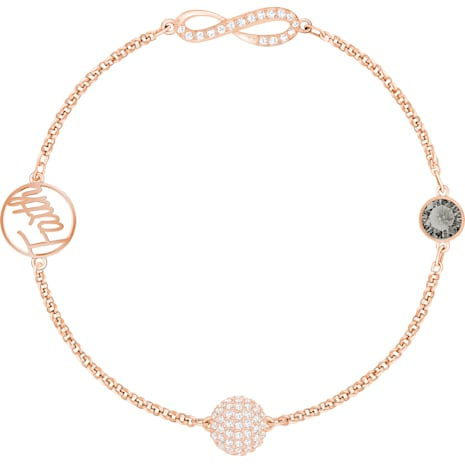 Swarovski Remix Collection Infinity Strand, 黑色, 鍍玫瑰金色調 - Swarovski, 5365734