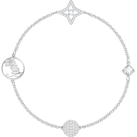 Swarovski Remix Collection Star Strand, White, Rhodium plated - Swarovski, 5365752