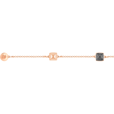 Swarovski Remix Collection Spike Strand, Black, Rose-gold tone plated - Swarovski, 5365753