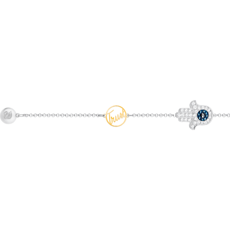 Swarovski Remix Collection Hamsa Hand Strand, bleu, Finition mix de métal - Swarovski, 5365759