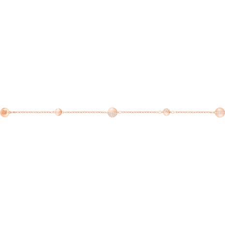 Swarovski Remix Collection Round Strand, White, Rose-gold tone plated - Swarovski, 5365763