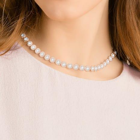 Angelic Halskette, weiss, Rosé vergoldet - Swarovski, 5367845
