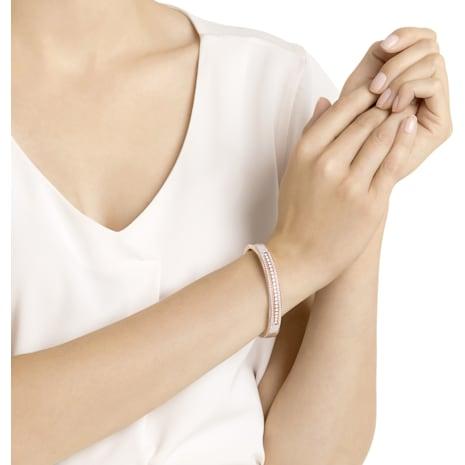 Brazalete ancho Further, blanco, Baño en tono Oro Rosa - Swarovski, 5368050