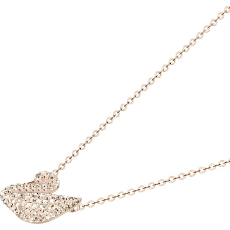 Pendente Swarovski Iconic Swan, bianco, Placcato oro rosa - Swarovski, 5368988