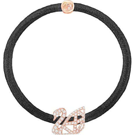 Facet Swan Pony Elastic, Rose gold plating - Swarovski, 5369580