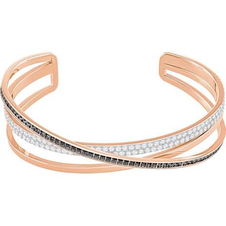 Hero Cuff, Gray, Rose-gold tone plated - Swarovski, 5370986