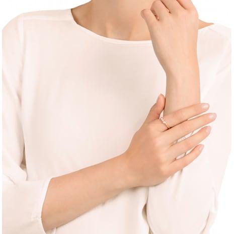 Anello Frisson, bianco, placcato oro rosa - Swarovski, 5370995