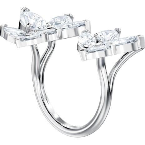 Louison Разомкнутое кольцо, Белый Кристалл, Родиевое покрытие - Swarovski, 5372962