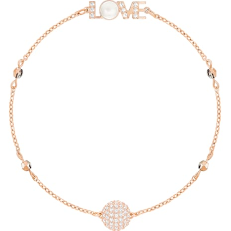 Swarovski Remix Collection Emotion Strand, blanc, Métal doré rose - Swarovski, 5373223
