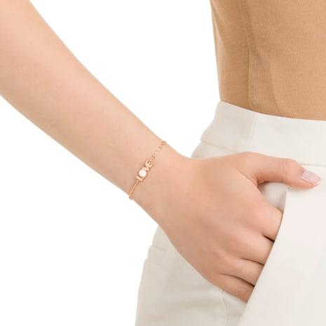 Swarovski Remix Collection Emotion Strand, White, Rose-gold tone plated - Swarovski, 5373223