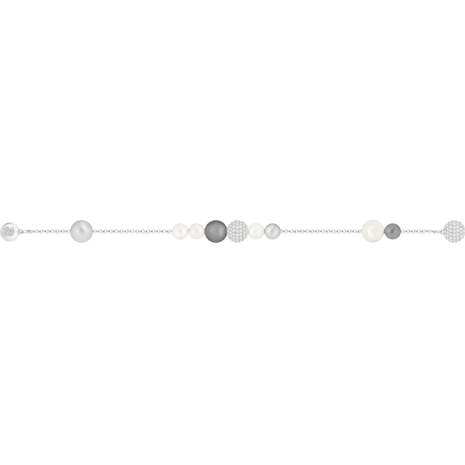 Swarovski Remix Collection Pearl Strand, grau, Rhodiniert - Swarovski, 5373259