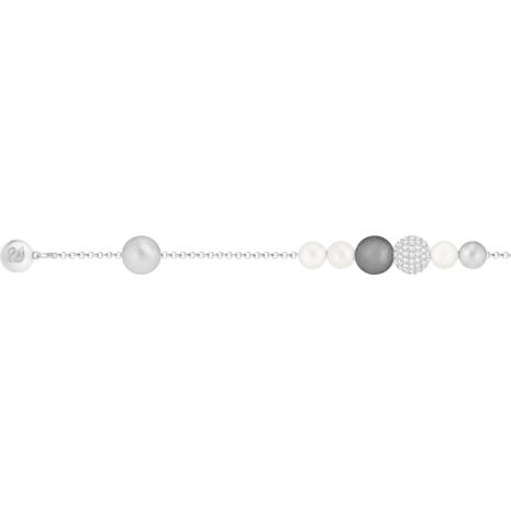 Swarovski Remix Collection Pearl Strand, 灰色, 鍍白金色 - Swarovski, 5373259
