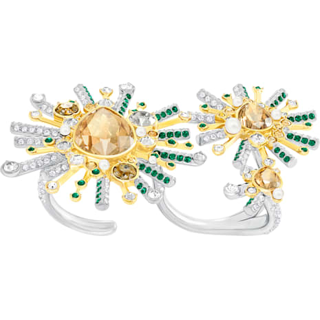Highness Double Ring, Multi-colored, Mixed plating - Swarovski, 5373887