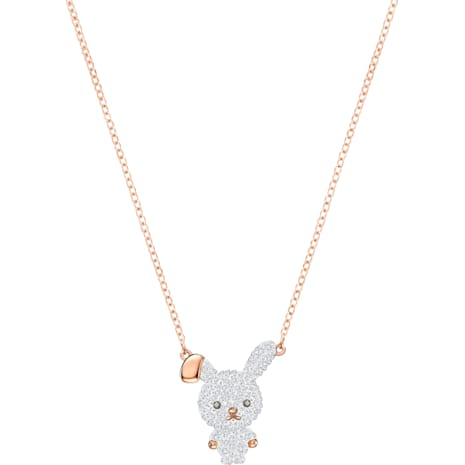 Little Bunny Pendant, Multi-colored, Rose-gold tone plated - Swarovski, 5374443