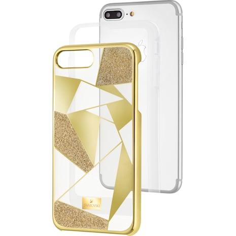 Heroism Smartphone Case with Bumper, iPhone® 8, Gold Tone - Swarovski, 5374495