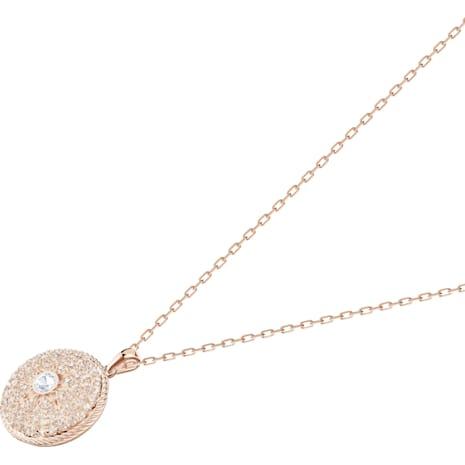 Locket Pendant, Pink, Rose-gold tone plated - Swarovski, 5374560