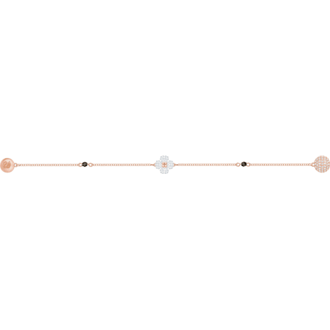 Swarovski Remix Collection Clover Strand, White, Rose-gold tone plated - Swarovski, 5375185