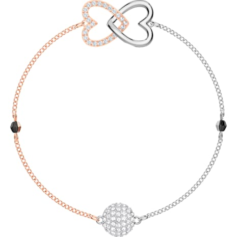 Swarovski Remix Collection Forever Strand, 화이트, 믹스메탈 피니시 - Swarovski, 5375199