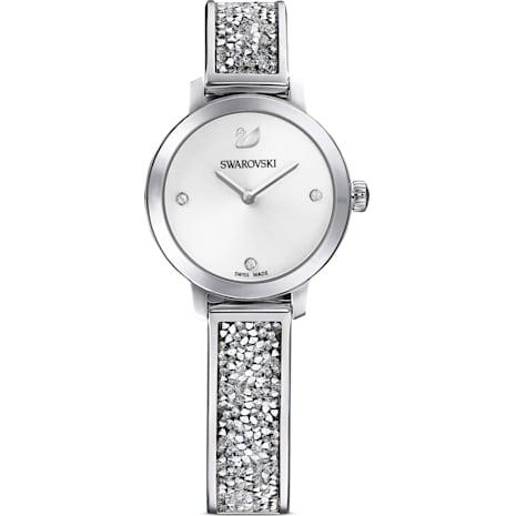 Cosmic Rock Watch, Metal bracelet, White, Stainless steel - Swarovski, 5376080