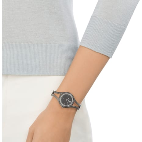 Eternal Saat, Metal bileklik, Siyah, Top metal PVD - Swarovski, 5376659