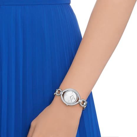 Stella Uhr, Metallarmband, weiss, Edelstahl - Swarovski, 5376815