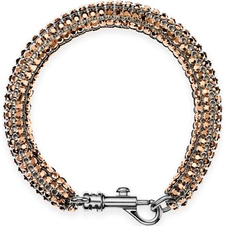 Skinny Single Bolster Bracelet, Palladium plated - Swarovski, 5377158