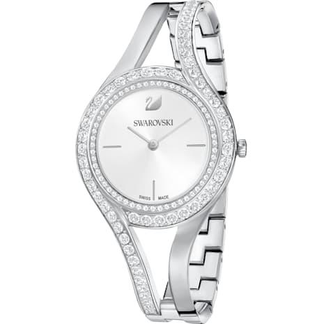 Orologio Eternal, Bracciale di metallo, bianco, acciaio inossidabile - Swarovski, 5377545
