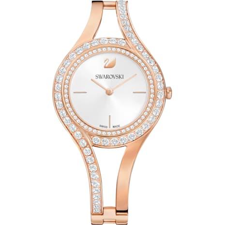 Eternal Watch, Metal bracelet, White, Rose-gold tone PVD - Swarovski, 5377576