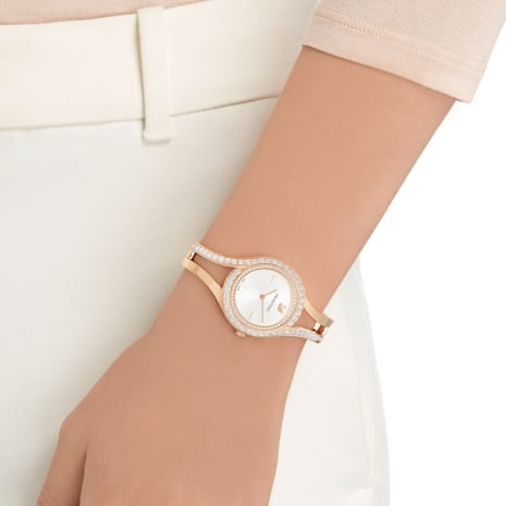 Eternal Uhr, Metallarmband, weiss, Rosé vergoldetes PVD-Finish - Swarovski, 5377576