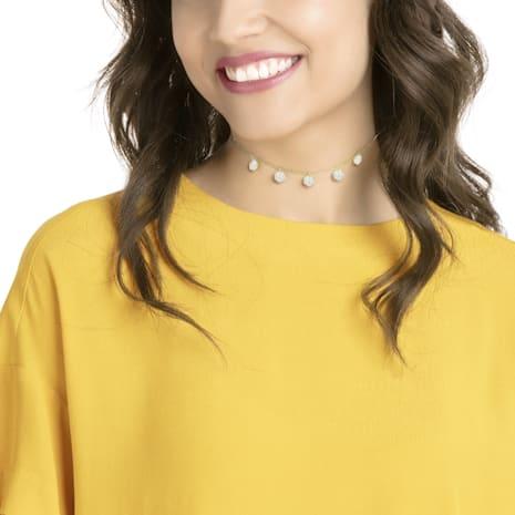 Lisabel Choker, White, Gold-tone plated - Swarovski, 5380108