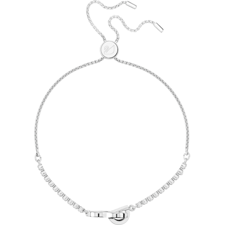 Lovely Bracelet, White, Rhodium plated - Swarovski, 5380704