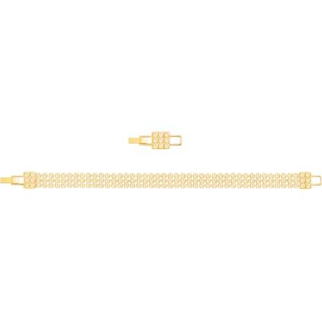 Pulsera Fit, dorado, Baño en tono Oro - Swarovski, 5381138