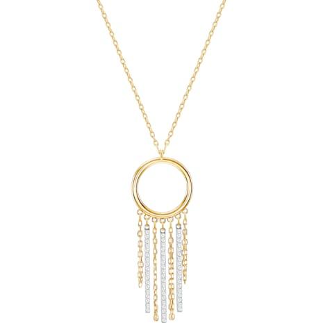 Lyrebird Circle Necklace, White, Mixed plating - Swarovski, 5381226