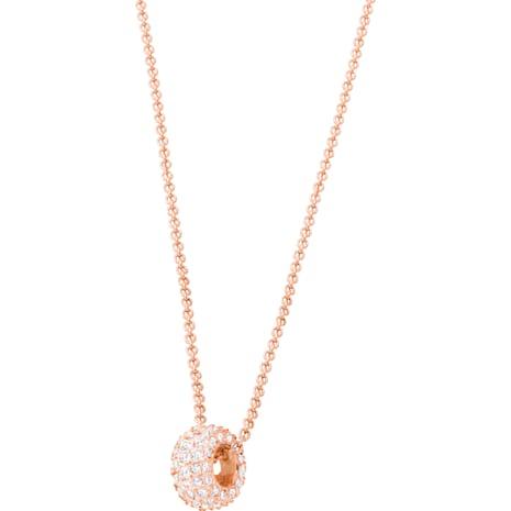 Stone Round 戒指, 粉紅色, 鍍玫瑰金色調 - Swarovski, 5383957
