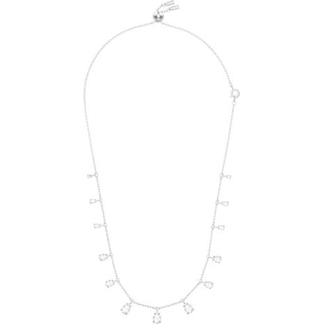Collier Attract Pear, blanc, Métal rhodié - Swarovski, 5384371