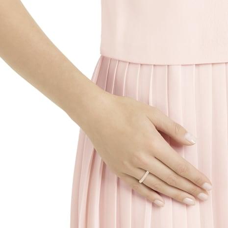Stone Ring, Pink, Rose-gold tone plated - Swarovski, 5387567