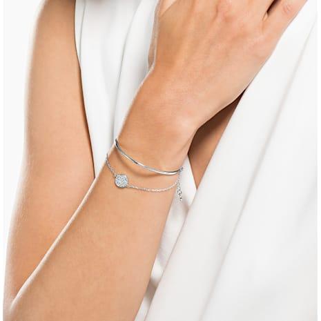 Ginger 手鐲, 白色, 鍍白金色 - Swarovski, 5389044