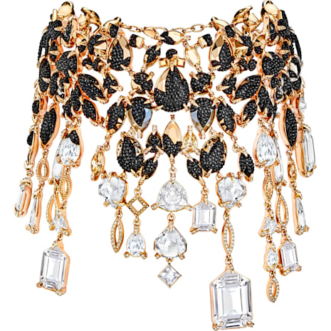 Manor Necklace, Multi-colored, Rose-gold tone plated - Swarovski, 5389181