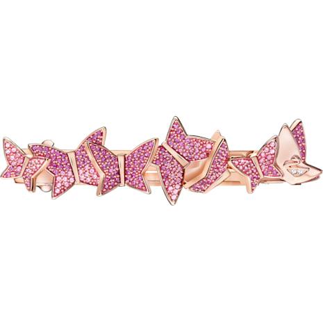 Lilia Hair Clip, Multi-colored, Rose gold plating - Swarovski, 5389833