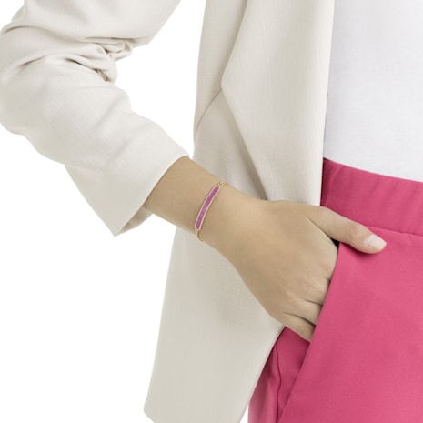 Locket Bracelet, Pink, Rose-gold tone plated - Swarovski, 5390255