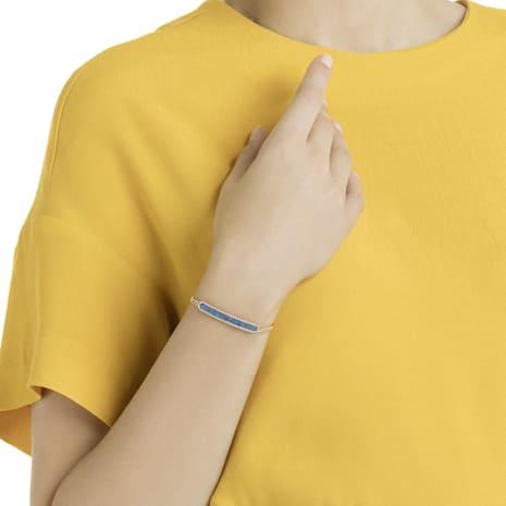 Locket Bracelet, Blue, Rose-gold tone plated - Swarovski, 5390256