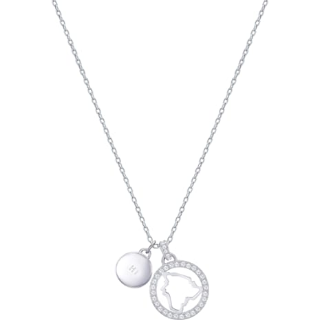 Lena Hawaii Pendant, White, Rhodium plating - Swarovski, 5393526