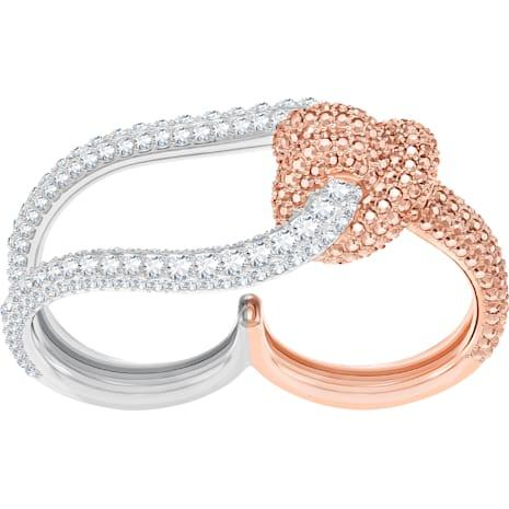 Lifelong Double Ring, Multi-colored, Mixed metal finish - Swarovski, 5395323